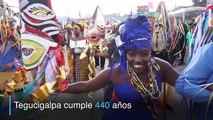 Hondureños celebran con carnaval 440 aniversario de Tegucigalpa