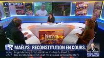 Affaire Maëlys: la reconstitution est en cours à Pont-de-Beauvoisin