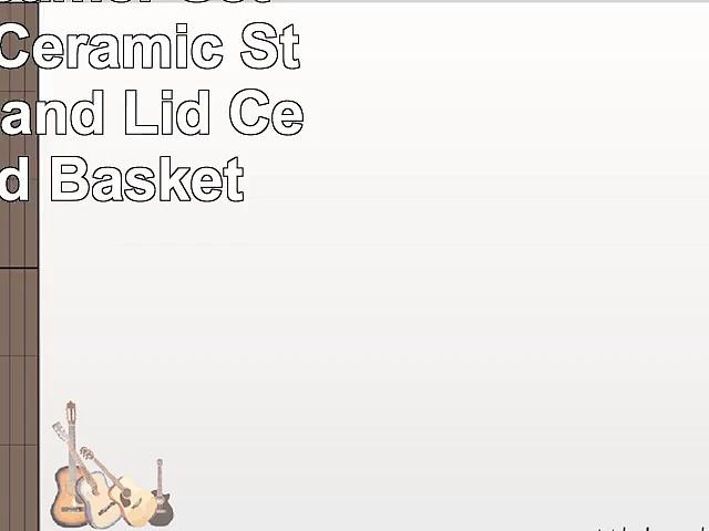JIA Inc Steamer Set  Large Set Ceramic Steamer Pot and Lid  Cedar Wood Basket