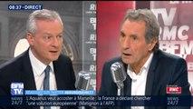 """""""Ce seront le Président, le Premier ministre et le ministre de l'Intérieur qui décideront"""" s'il faut accueillir l'Aquarius, estime Bruno Le Maire, ministre de l'Économie"""