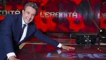 L'eredità, Carlo Conti e Flavio Insinna ricordano Fabrizio Frizzi con quel gesto nella 1a puntata