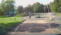 Guy Fails to Hop Inside Car After Pushing it on Road