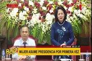 Nombran por primera vez a una mujer como presidenta de Vietnam