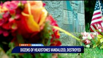 44 Headstones Spray Painted, Smashed at Cemetery