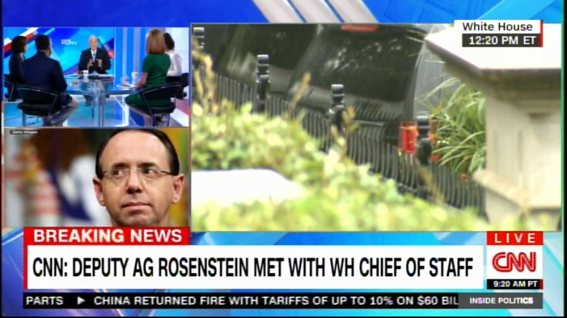 CNN: Deputy Attorney General Rosenstein to meet with White House Chief of Staff. #Breaking #News #Ro