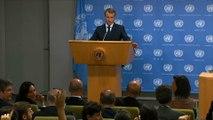 Conférence de presse du Président de la République Emmanuel Macron après son discours à la 73e Assemblée générale des Nations unies
