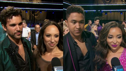"""""""Dancing With the Stars"""" Top 3 React to Premiere Night"""