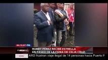 Rubby Perez Recibe Estrella En Paseo De La Fama De Celia Cruz