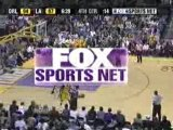 NBA BASKETBALL - Kobe Bryant blocks tracy mac