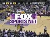 NBA BASKETBALL - Kobe Bryant blocks tracy mac