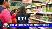 DTI resumes price monitoring