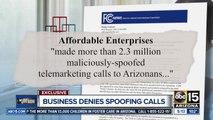 Arizona business denies spoofing calls