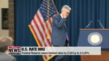 U.S. Federal Reserve raises interest rates by 0.25%p, forecasts optimistic outlook for U.S. economy