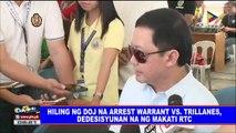 Hiling ng DOJ na arrest warrant vs Trillanes, dedesisyunan na ng Makati RTC