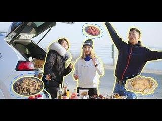 【magic food】只带厨具不带食材竟然还能在公路上吃这么香!