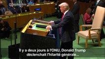 Trump s'explique après les rires aux Nations unies