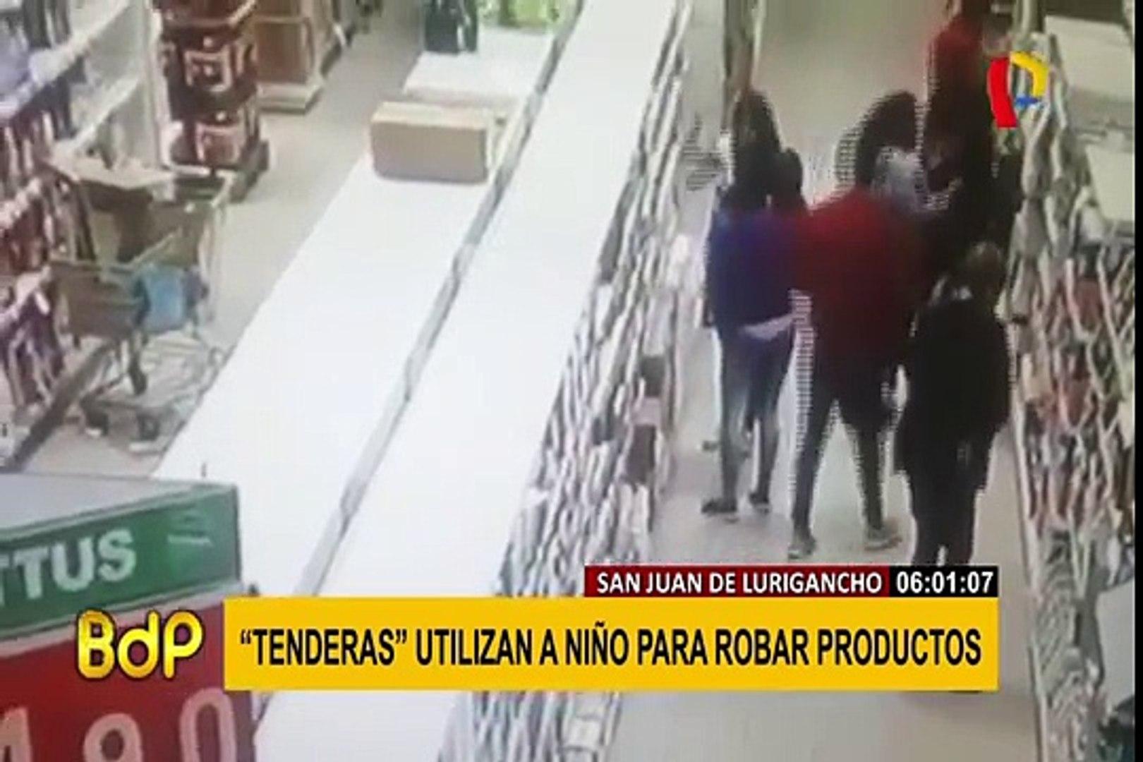 "San juan de Lurigancho: capturan a integrante de banda de ""tenderas"" que usan a menor para robar"