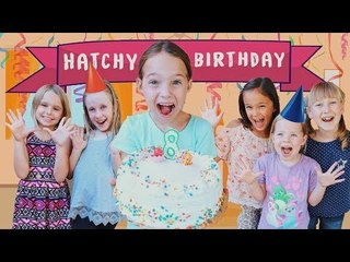 Toy Hotel Celebrates Addy's Hatchimals Filled Birthday !!!