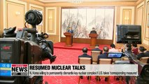 Inspections for nuclear, missile site dismantlement and declaring end to Korean War at core of N. Korea-U.S. negotiations