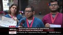 La crisis económica golpea las universidades venezolanas