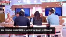 Eric Zemmour surprotégé à la sortie d'une séance de dédicaces à Paris (vidéo)