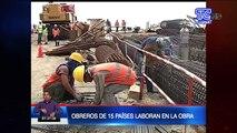 Avanza construcción de puerto de aguas profundas en Posorja