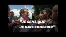 """Emmanuel Macron interpellé dès son arrivée en Guadeloupe: """"Je sens que je vais souffrir"""""""