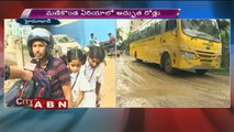 People suffering with Damaged Roads at Manikonda