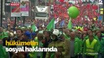Belçika polisinden kamu çalışanlarının protestosuna orantısız güç