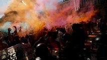 Színes tüntetés Barcelonában