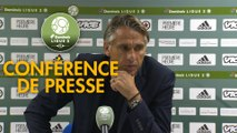 Conférence de presse Red Star  FC - Grenoble Foot 38 (2-3) : Régis BROUARD (RED) - Philippe  HINSCHBERGER (GF38) - 2018/2019