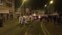 Procession au flambeau lors des fêtes thérésiennes