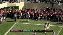 Central Michigan vs Michigan State   FOX COLLEGE FOOTBALL HIGHLIGHTS