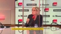 """Marine Le Pen : """"Dans cette affaire des assistants parlementaires, nous sommes totalement innocents"""""""