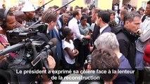 Saint-Martin: Macron en colère, à Quartier d'Orléans