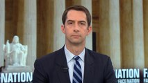 """Sen. Tom Cotton says Christine Blasey Ford has been """"victimized by Democrats"""""""