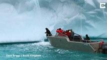 Cet explorateur boit l'eau la plus pure du monde qui coule d'un glacier dans l'océan Arctique