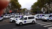 Les ambulanciers bloquent l'hôpital Edouard-Herriot.