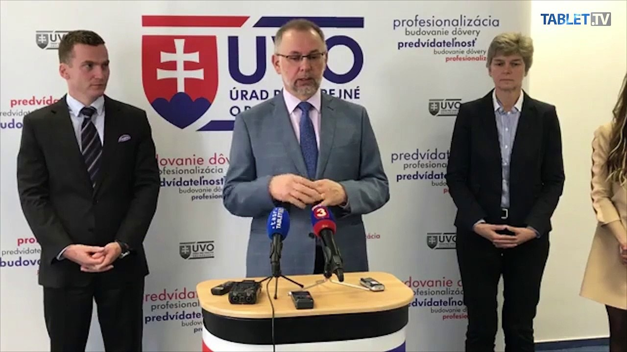 ZÁZNAM: Brífing predsedu Úradu pre verejné obstarávanie Miroslava Hliváka