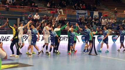 Handball   Proligue 2018/2019 : Gustavo Rodrigues et Dylan Soyez au micro  (Créteil-Chartres)