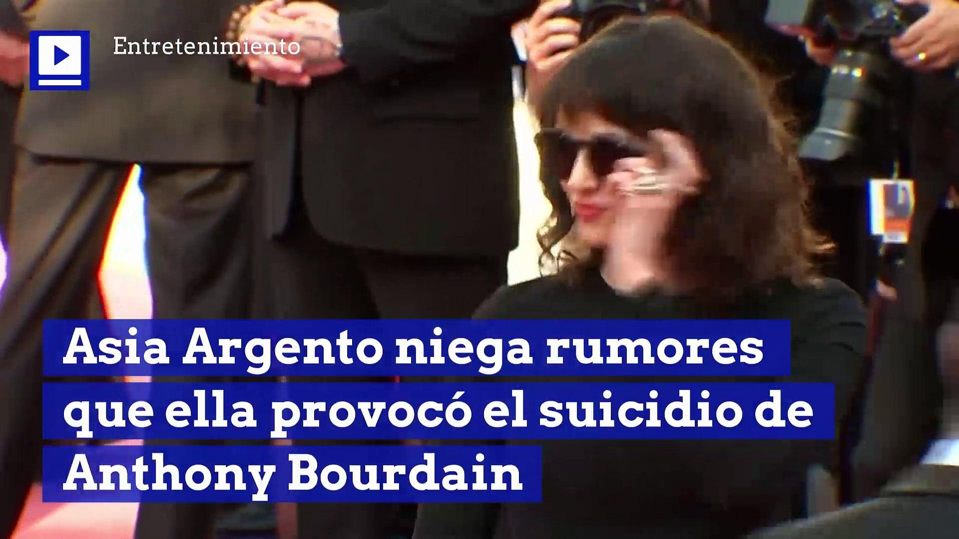 Asia Argento niega rumores que ella provocó el suicidio de Anthony Bourdain