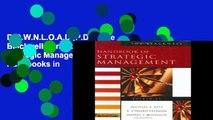 D.O.W.N.L.O.A.D [P.D.F] The Blackwell Handbook of Strategic Management (Blackwell Handbooks in