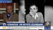 """""""On a parlé de ses projets, de son album qu'il était en train de faire"""", témoigne Michel Leeb qui a passé une dernière après-midi avec Charles Aznavour hier"""