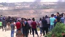 İsrail Gazze sınırında 37 Filistinliyi yaraladı (1) - GAZZE