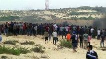 İsrail Gazze sınırında 37 Filistinliyi yaraladı (2) - GAZZE
