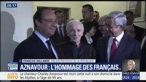 """""""La République aura à cœur de rendre hommage à un grand défenseur de la langue française"""", affirme François Hollande après le décès de Charles Aznavour"""