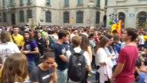 Barselona'da Katalonya Referandumunun Yıldönümünde Gösteri