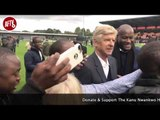 Arsene Wenger Mobbed By Fans After Kanu Cup Pitch Invasion At Full Time!