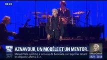 Charles Aznavour était un modèle et un mentor pour de nombreux artistes