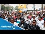 Movilizaciones policiacas resguardan el Zócalo par impedir paso a la CNTE